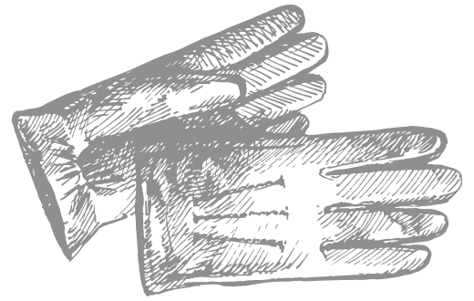 large gloves etching icon